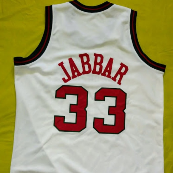 reputable site d984c 3a9aa Kareem Abdul Jabbar Throwback Bucks Jersey